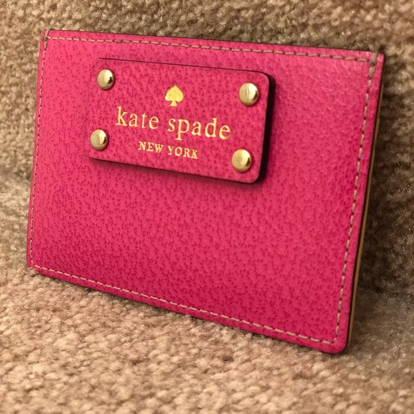 wholesale dealer 7ecff 4438f Kate spade pink card holder